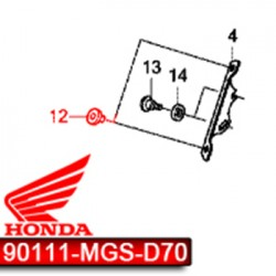 90111-MGS-D70 : Integra windshield rubber NC700