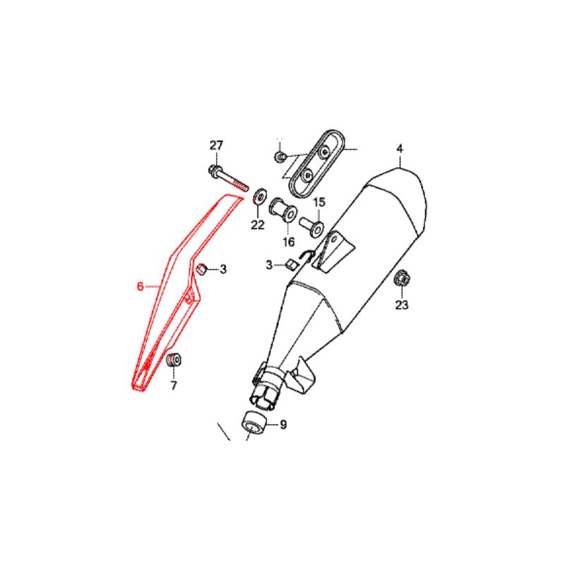 18342-MKA-D81 : Protection d'échappement origine Honda NC700 NC750