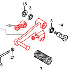 24705-MGS-D30 : Honda OEM gear selector NC700