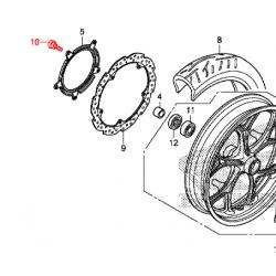 Vis de disque de frein avant Honda