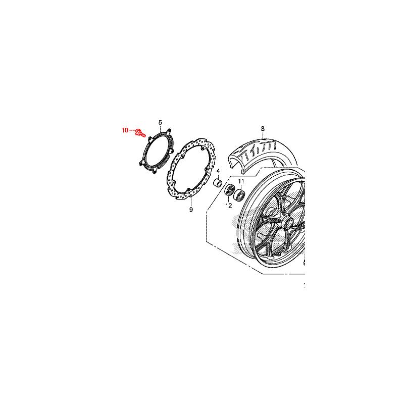 90105-MGS-D30 : Honda OEM Front Brake Disk Screw NC700 NC750