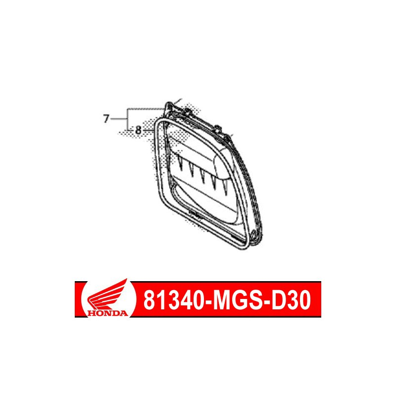 81340-MGS-D30 : Battery maintenance cover NC700 NC750