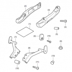 08L71-MKW-D00 : Honda luggage rack 2021 NC700 NC750