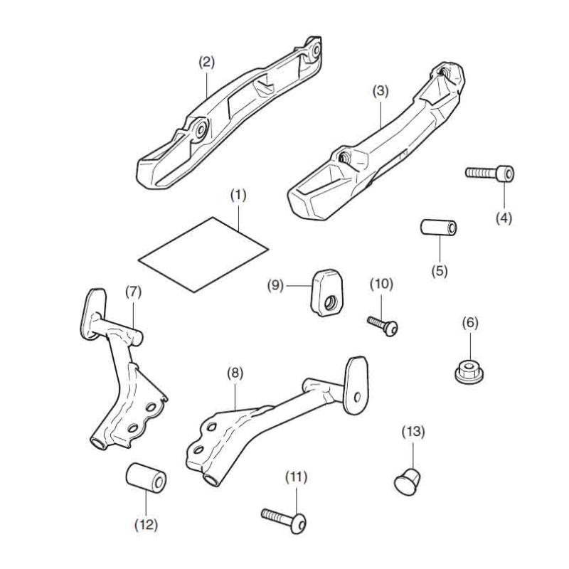 08L71-MKW-D00 : Support de valise Honda 2021 NC700 NC750