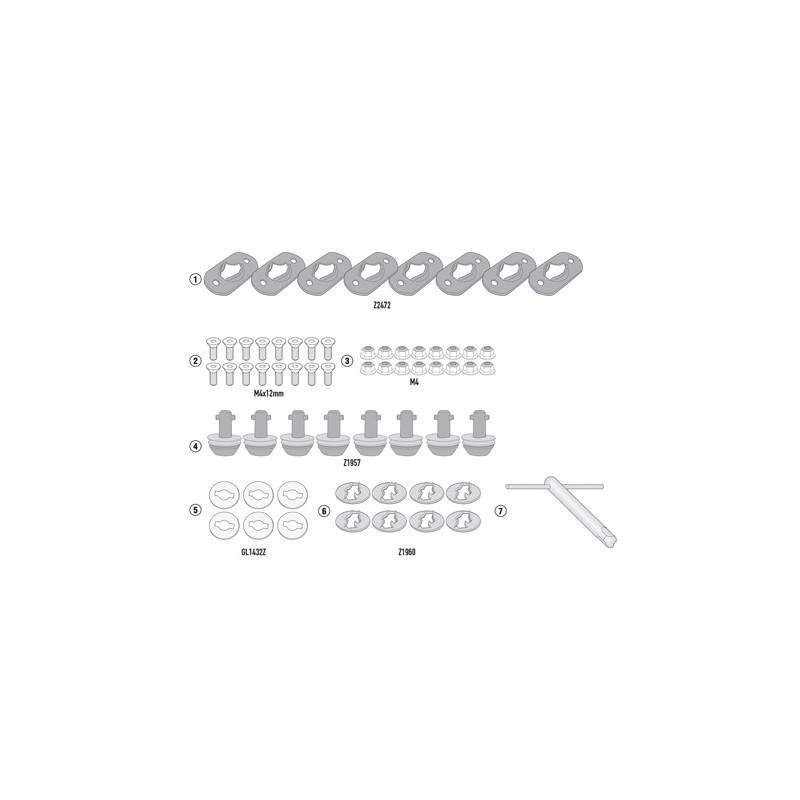 07RKIT : Supports latéraux démontage rapide Givi 2021 NC700 NC750