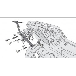 1146FZ : Support Top Case Givi NC700 NC750