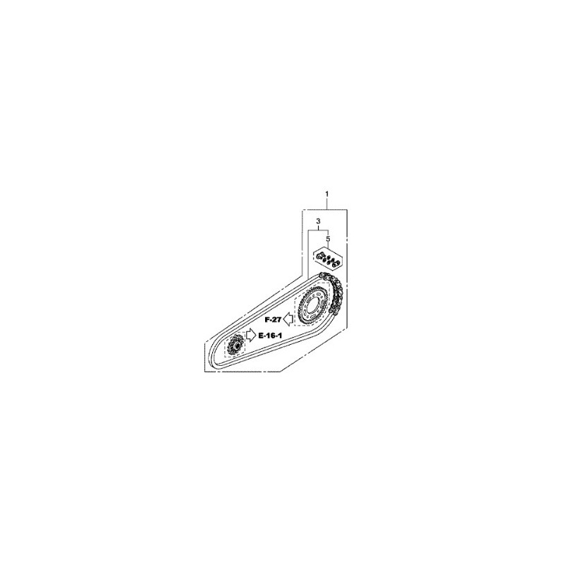 hondaxschainkit : Kit-Chaîne Honda d'origine NC700
