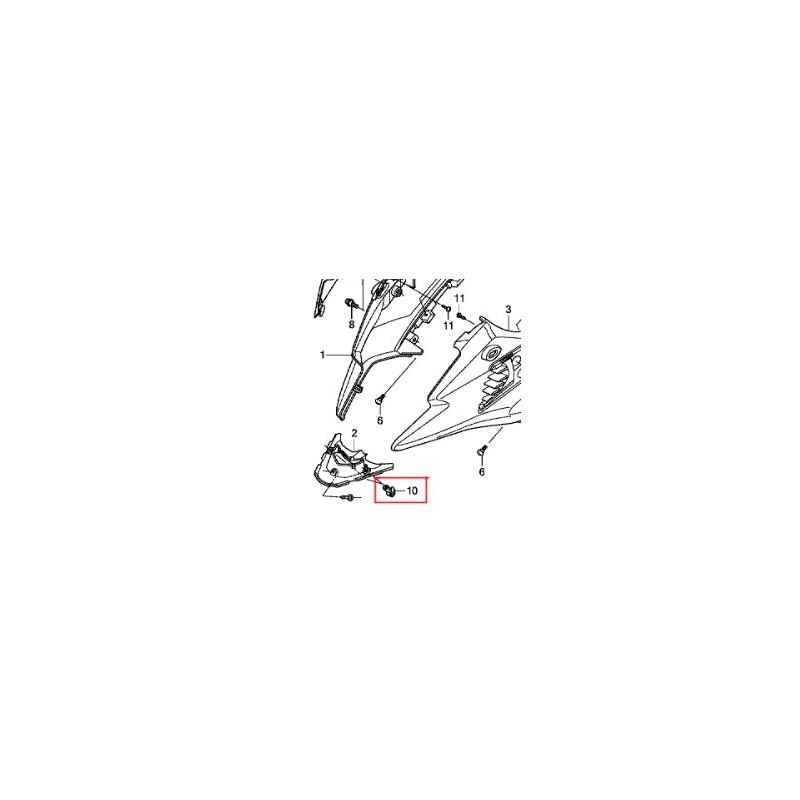 90683-GAZ-003 : Clip de Carrosserie NC700