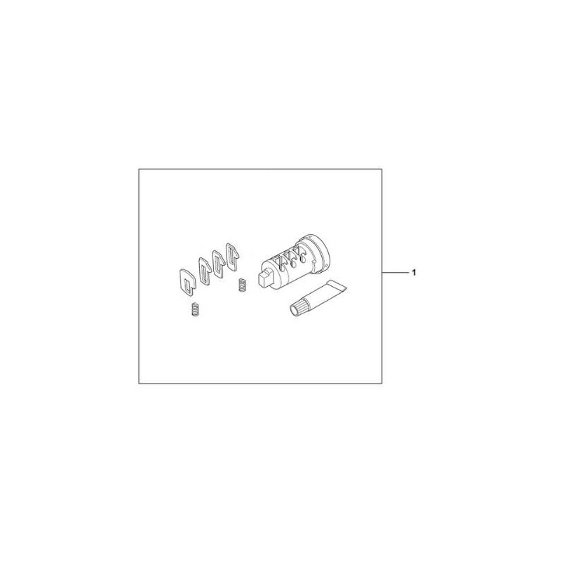 08885-HAC-P00 : Lock barrel for Honda OEM panniers NC700 NC750