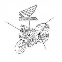 86202-MGS-D31ZA : Honda Left Tank Sticker NC700