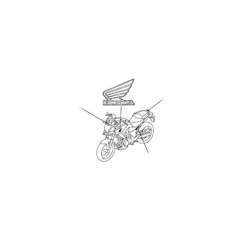 86202-MGS-D31ZA : Sticker Honda Gauche NC700