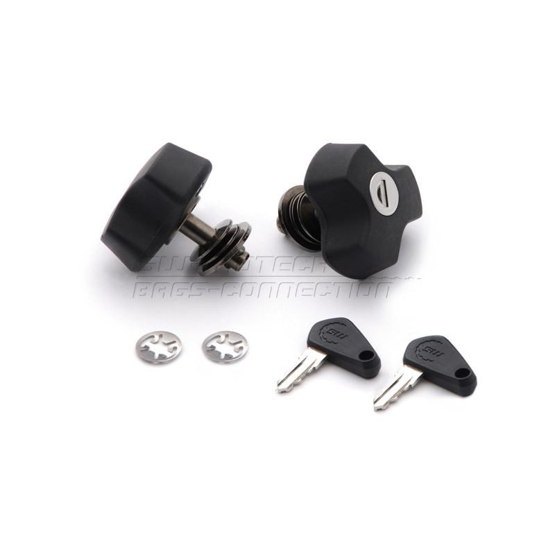 QLS.00.046.10100/B : Système Anti-Vol SW-Motech pour support valises Quick Lock NC700