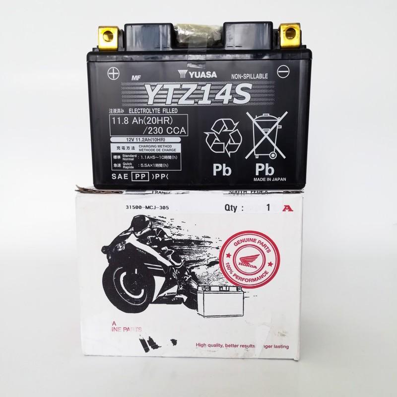 31500-MCR-305 : Batterie d'origine Honda YTZ14S NC700 NC750