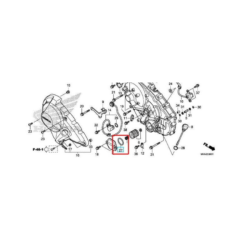 91302-PA9-003 : Joint Torique de Couvercle de Filtre de Boîte NC700
