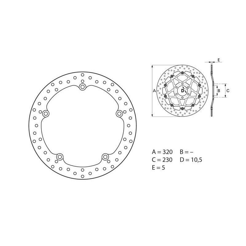 35700102 : Brembo front brake disk NC700