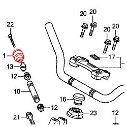 53105-MK4-620 : Honda OEM handlebars cap NC700 NC750
