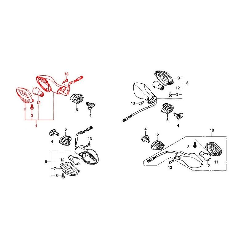 33400-MKA-D81 : Honda OEM turn signal NC700